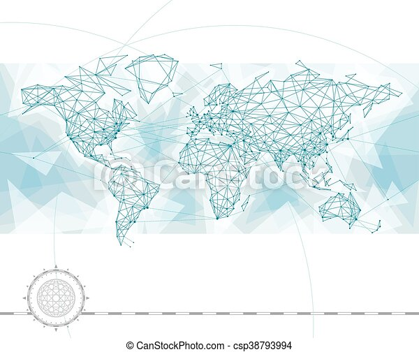 World map connection world map with global network connection lines world map connection csp38793994 gumiabroncs Image collections