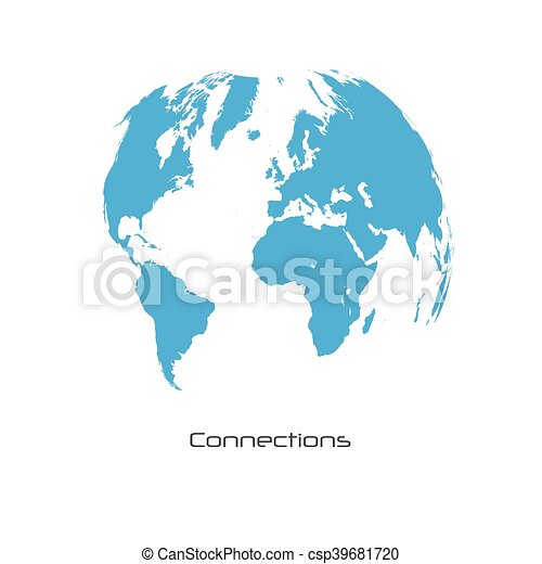 World map connections illustration world map connections vector world map connections illustration gumiabroncs Gallery