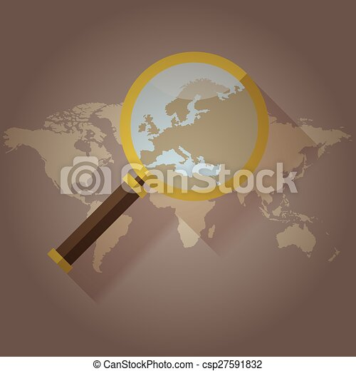 World map countries magnified loupe world map countries vectors world map countries magnified loupe csp27591832 publicscrutiny Gallery