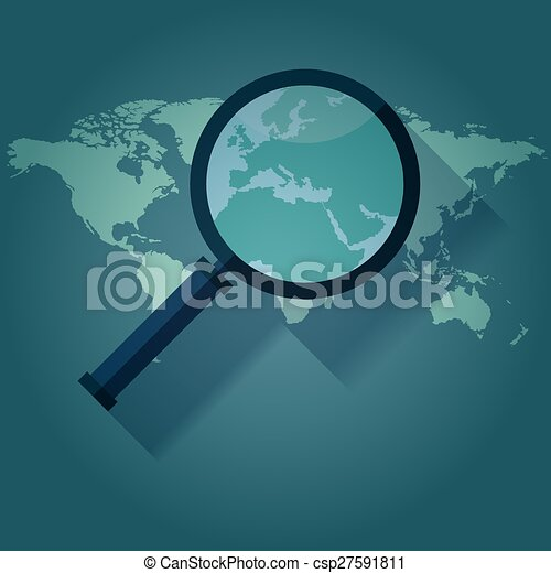 World map countries magnified loupe world map countries vector world map countries magnified loupe vector publicscrutiny Gallery