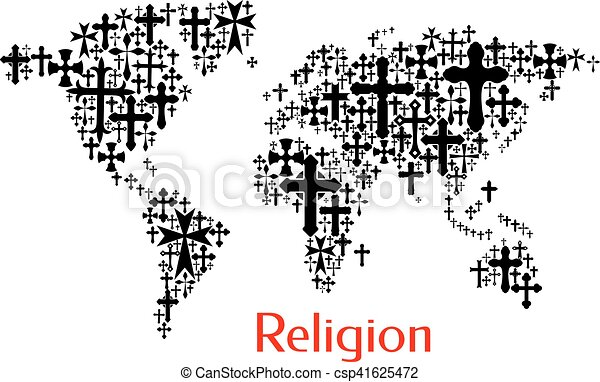 World map design of crucifix cross pattern religion vectors world map design of crucifix cross pattern csp41625472 gumiabroncs Gallery