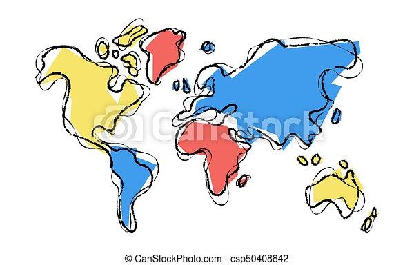 World map doodle sketch color illustration concept world eps world map doodle sketch color illustration concept gumiabroncs Gallery