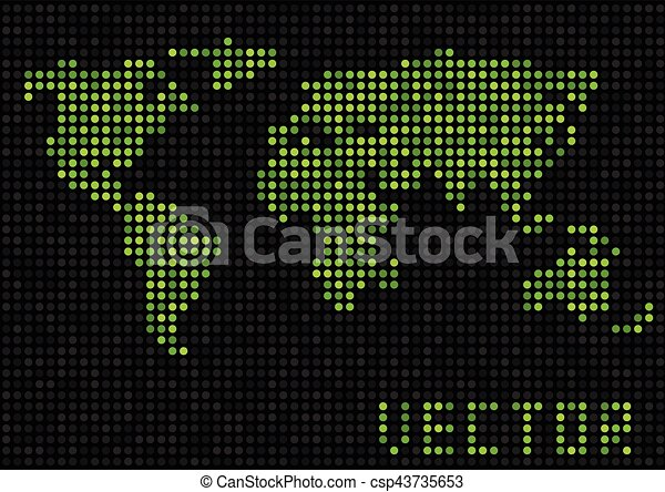 World map dots green pixels earth vector illustration clipart world map dots csp43735653 gumiabroncs Choice Image