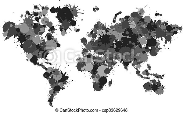 World map dots illustration eps vector search clip art world map dots illustration gumiabroncs Choice Image