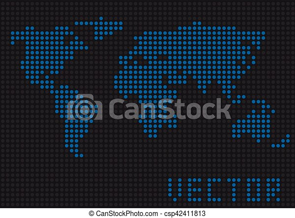 World map dots blue pixels earth vector illustration world map dots csp42411813 gumiabroncs Choice Image