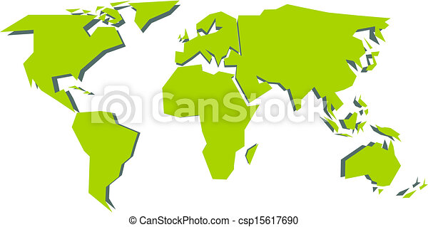 Simplified world map vector illustration eps vectors search world map csp15617690 gumiabroncs Gallery