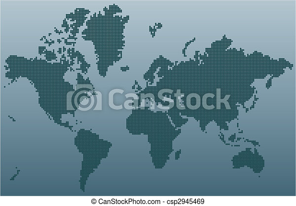 World map stylized world map unusual blue color vector eps world map vector sciox Image collections