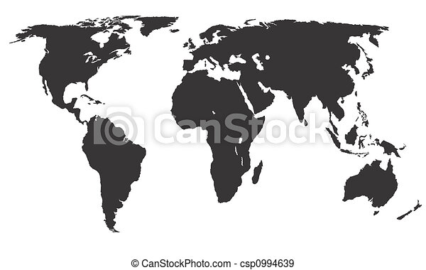 World map africa america asia europe and oceania black on world map csp0994639 gumiabroncs Images
