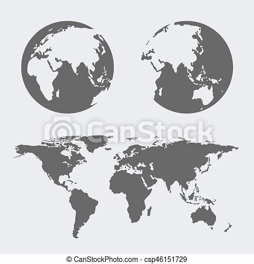 World map earth globes icon flat web sign symbol logo label set world map earth globes icon flat web sign symbol logo label csp46151729 gumiabroncs Gallery