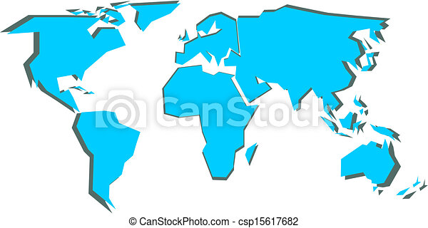 Simplified world map vector illustration vector search clip art world map csp15617682 gumiabroncs Image collections