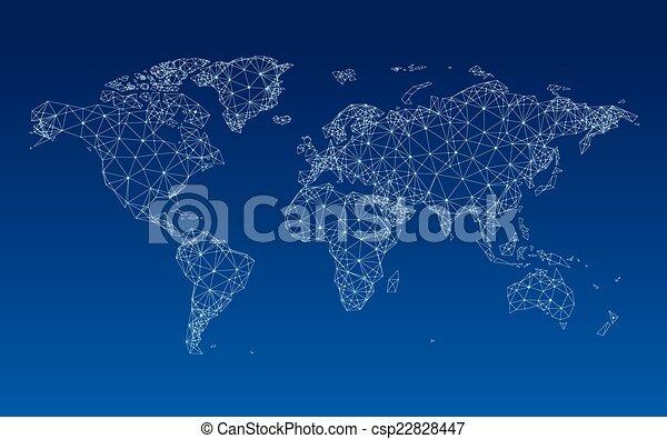 World map - csp22828447