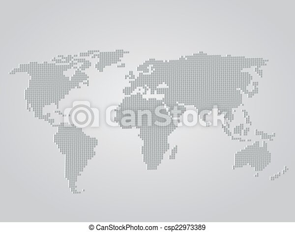 World map 3d folded squares vector illustration vector search clip world map csp22973389 gumiabroncs Choice Image