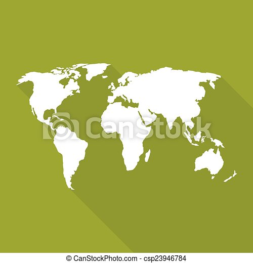 World map a flat design long shadow for web and mobile app world map csp23946784 gumiabroncs Image collections