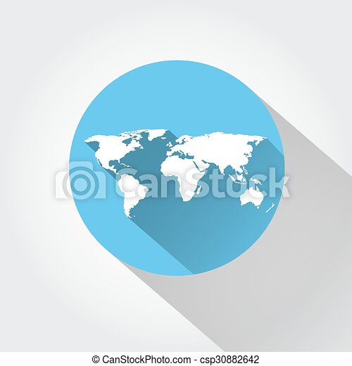 World map flat design long shadow eps vector search clip art world map csp30882642 gumiabroncs Gallery