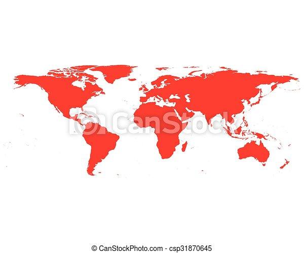 World map - csp31870645