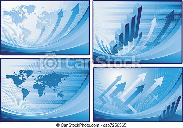 World map financial background - csp7256365