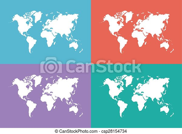 World map flat design vectors search clip art illustration world map flat design csp28154734 gumiabroncs Gallery