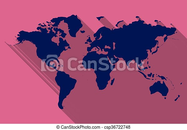 World map flat on a pink background vector illustration world map flat csp36722748 gumiabroncs Image collections