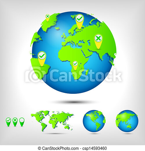 World map globe earth planet vector illustration vector world map globe csp14593460 gumiabroncs Image collections