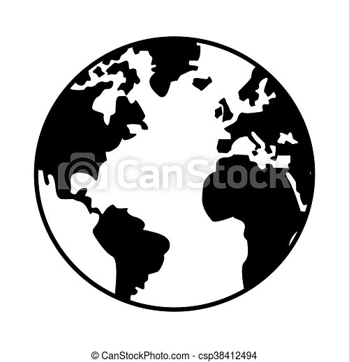 World map globe earth icon isolated vector illustration eps vectors world map globe earth icon csp38412494 gumiabroncs Images