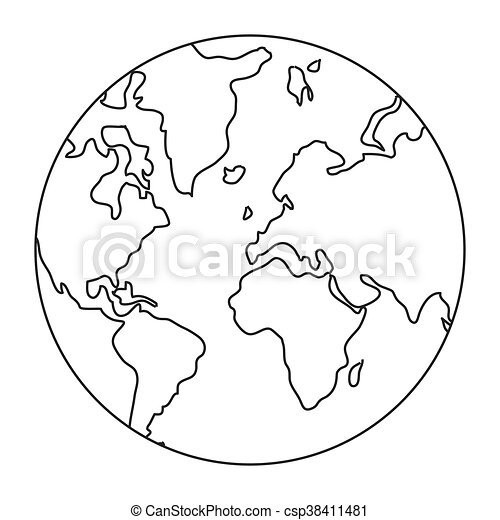 World map globe earth icon isolated vector illustration vector world map globe earth icon csp38411481 gumiabroncs Images