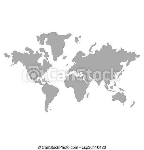 World map globe earth icon isolated vector illustration world map globe earth icon csp38410420 gumiabroncs Choice Image