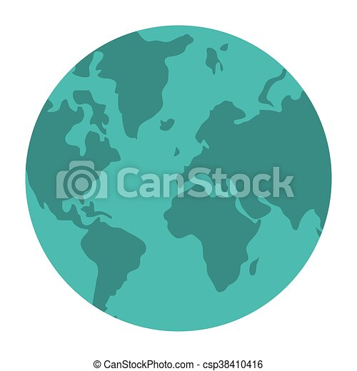 World map globe earth icon isolated vector illustration vector world map globe earth icon csp38410416 gumiabroncs Image collections