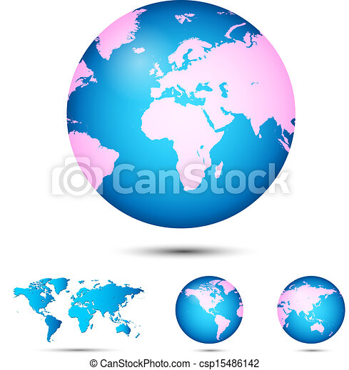 World map globe earth planet vector illustration eps vector vector world map globe csp15486142 gumiabroncs Choice Image