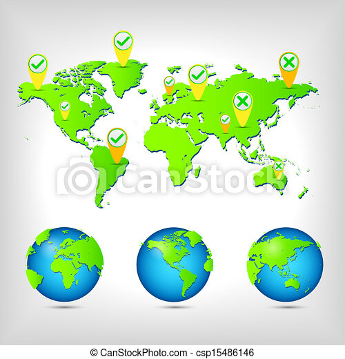 World map globe earth planet vector illustration eps vector vector world map globe csp15486146 gumiabroncs Images