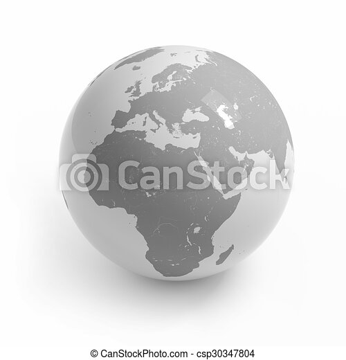 World map globe on white world map globe isolated on white stock world map globe on white csp30347804 gumiabroncs Image collections