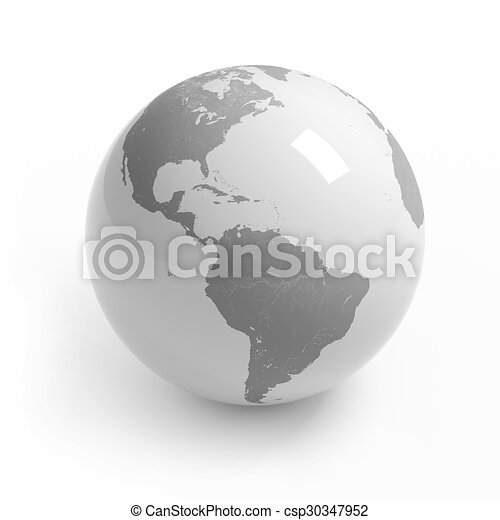 World map globe on white world map globe isolated on white stock world map globe on white csp30347952 gumiabroncs Image collections