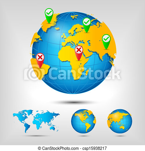 World map globe earth planet vector illustration vector clip art world map globe csp15938217 gumiabroncs Image collections