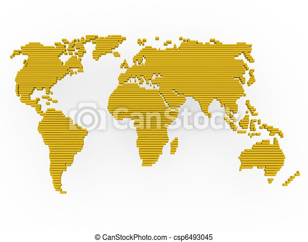 World map gold yellow world map earth europe america africa world map gold yellow csp6493045 gumiabroncs Images