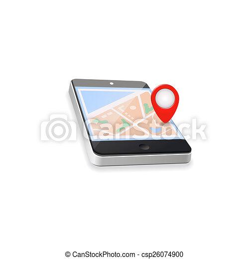 World map gps navigation mobile phone technologies stock world map gps navigation mobile phone technologies concept csp26074900 gumiabroncs Images