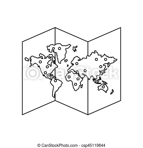 World map icon over white background vector illustration world map icon csp45119844 gumiabroncs Gallery