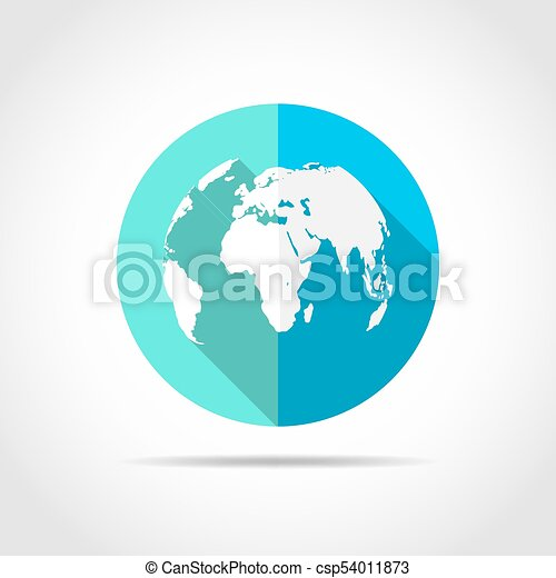 World map icon vector illustration white world map in flat design world map icon vector illustration gumiabroncs Gallery