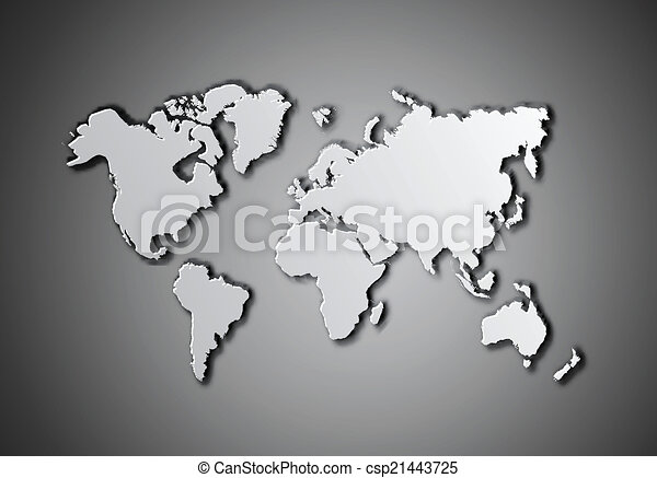 World map with shadow vector illustration on dark grey vector world map vector gumiabroncs Images