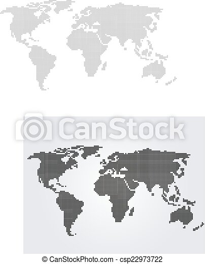 World map with folded squares vector illustration vector world map csp22973722 gumiabroncs Image collections