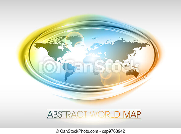 World map in the abstract round vector illustration search clipart world map csp9763942 gumiabroncs Images