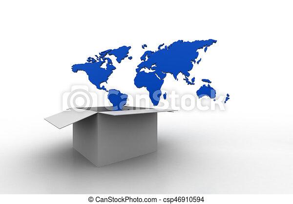 World map in an open box world map in an open box csp46910594 gumiabroncs Images