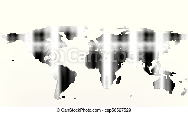 World Map In Dots, Little Lines With Gradient Effect   Csp56527529
