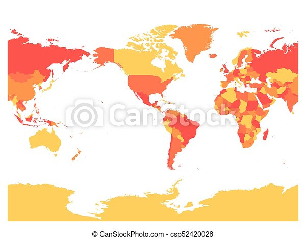 World map in four shades of red on white background high vector world map in four shades of red on white background high detail america centered political map gumiabroncs Image collections
