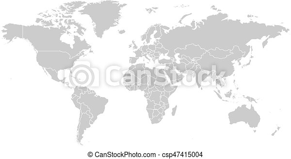 World map in grey color on white background high detail blank world map in grey color on white background high detail blank political map vector illustration with labeled compound path of each country gumiabroncs Choice Image