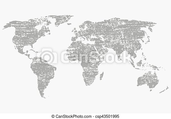 World map in grey on a white background with grunge world eps world map in grey on a white background with grunge csp43501995 gumiabroncs Gallery