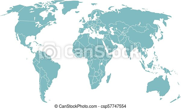 World map in perspective vector illustration clipart vector world map in perspective vector illustration gumiabroncs Images