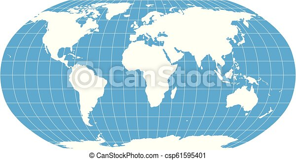 World Map in Robinson Projection with meridians and parallels grid. on model of map, set of map, photography of map, drawing of map, map of map, animation of map, texture of map, element of map, depression of map, shape of map, scale of map, type of map, view of map, orientation of map,