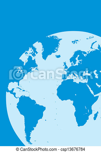 world map in the blue color - csp13676784