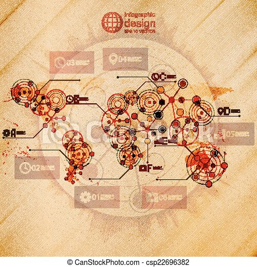 World map infographic design illustration wooden vector world map infographic design illustration wooden background vector gumiabroncs Choice Image