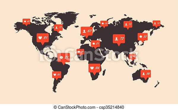 World map infographic world map infographic csp35214840 gumiabroncs Images