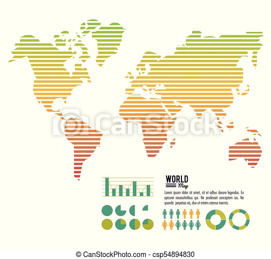 World map infographic icon vector illustration graphic design world map infographic csp54894830 gumiabroncs Gallery